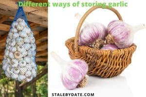 Different ways of storing whole-head garlic