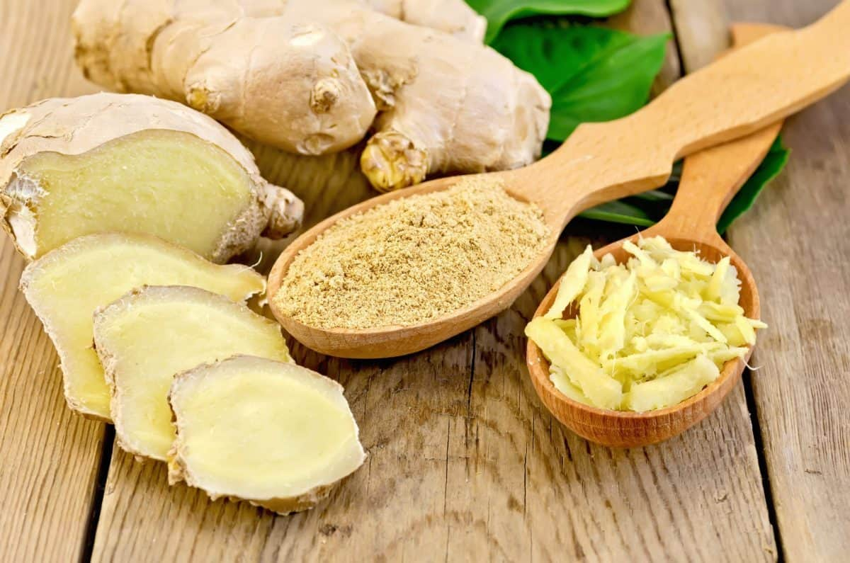 Ginger in different forms